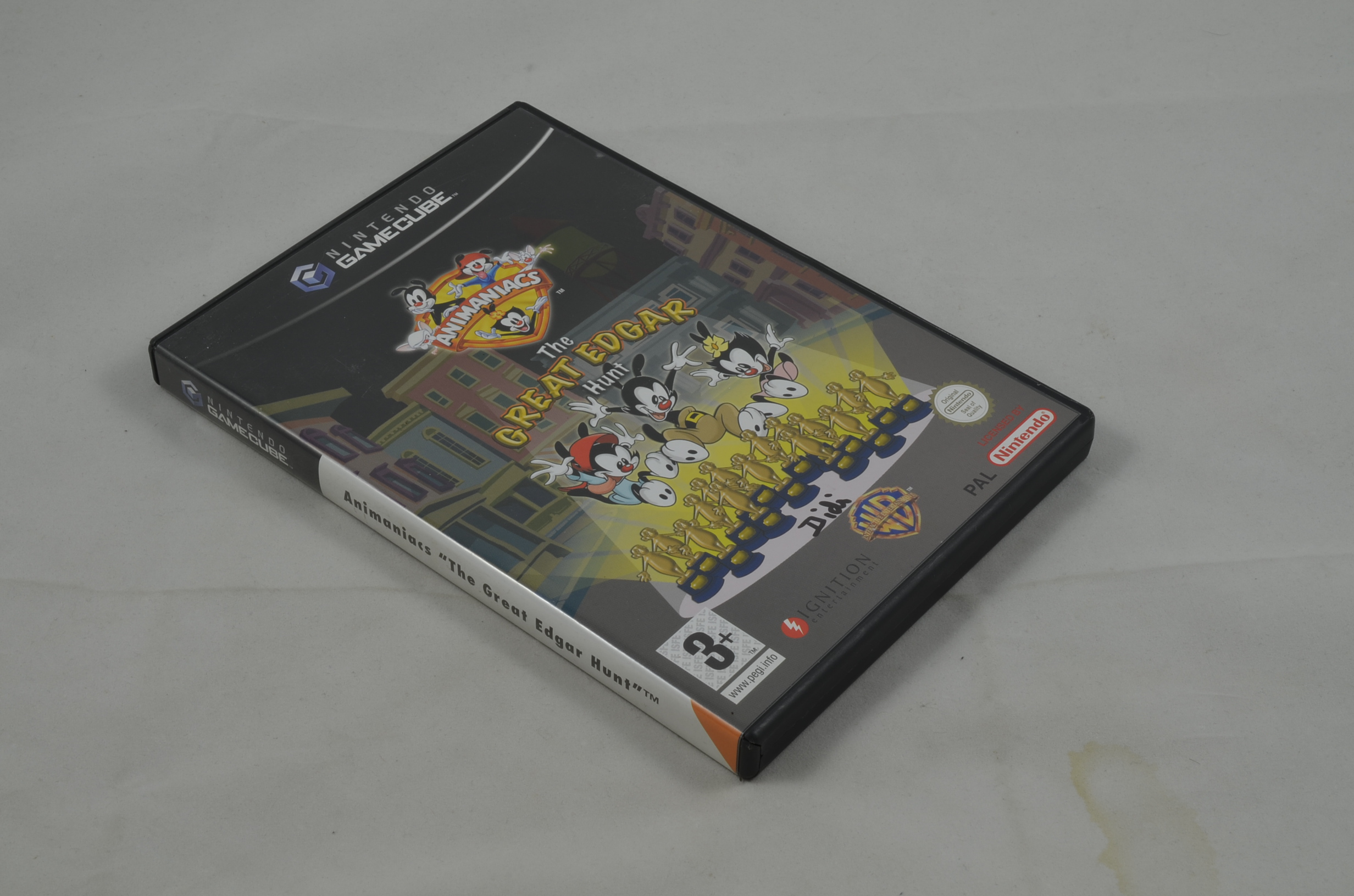 Produktbild von Animaniacs The Great Edgar Hunt GameCube Spiel CIB (gut)